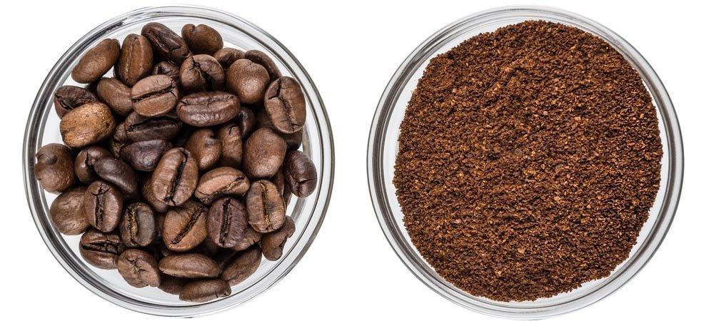 cafe en grano y molido